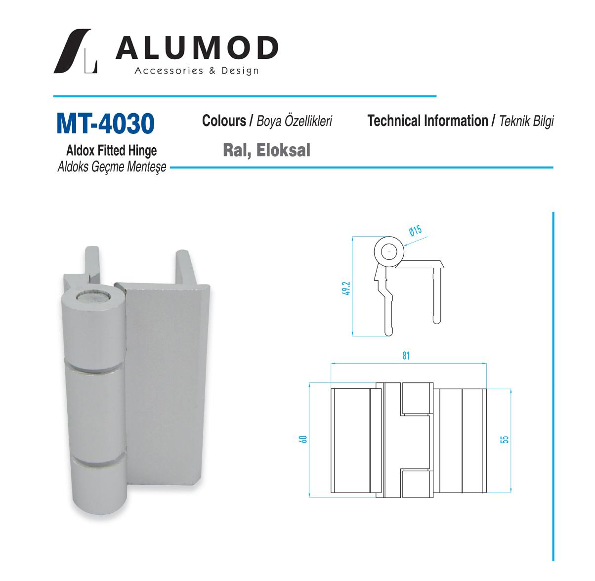 MT-4030 Aldoks Geçme Menteşe