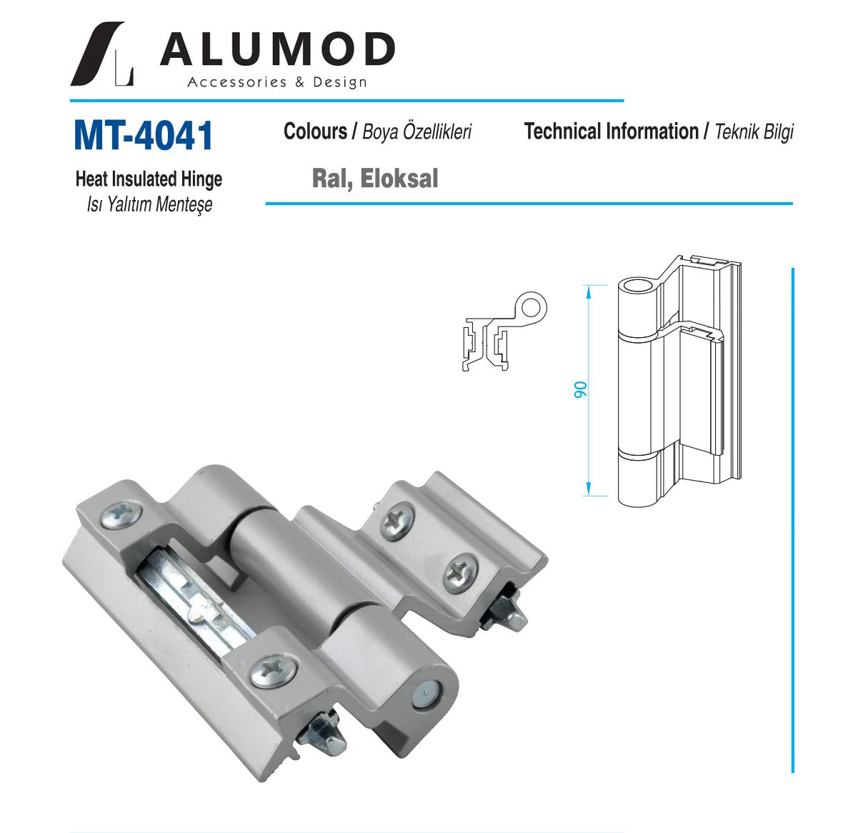 MT-4041 Sistem Menteşe Isı Yalıtım Menteşe