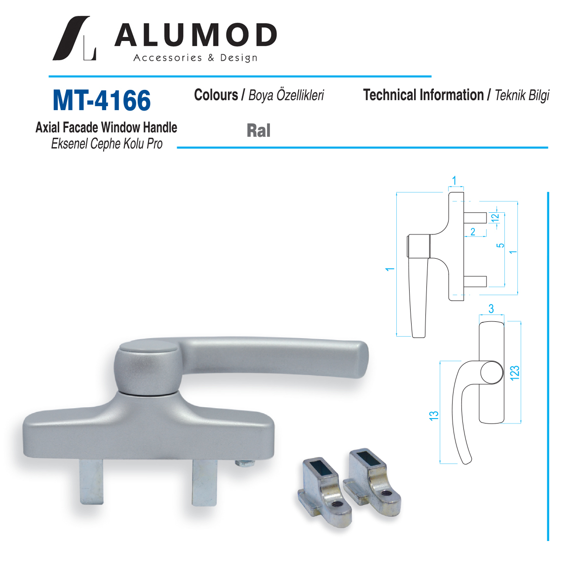 MT-4166 Cephe Kolu Pascal Çift Maçalı