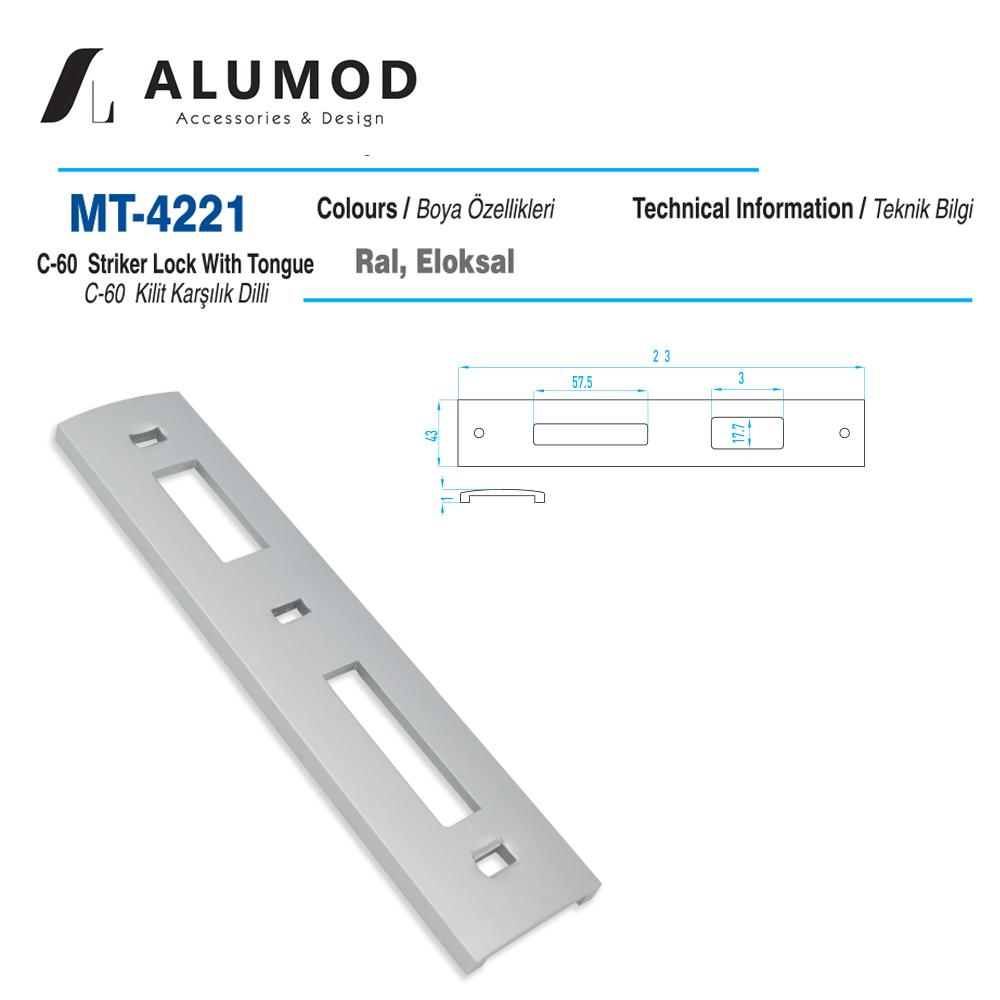 MT-4221 C-60 Kilit karşılığı Dilli.