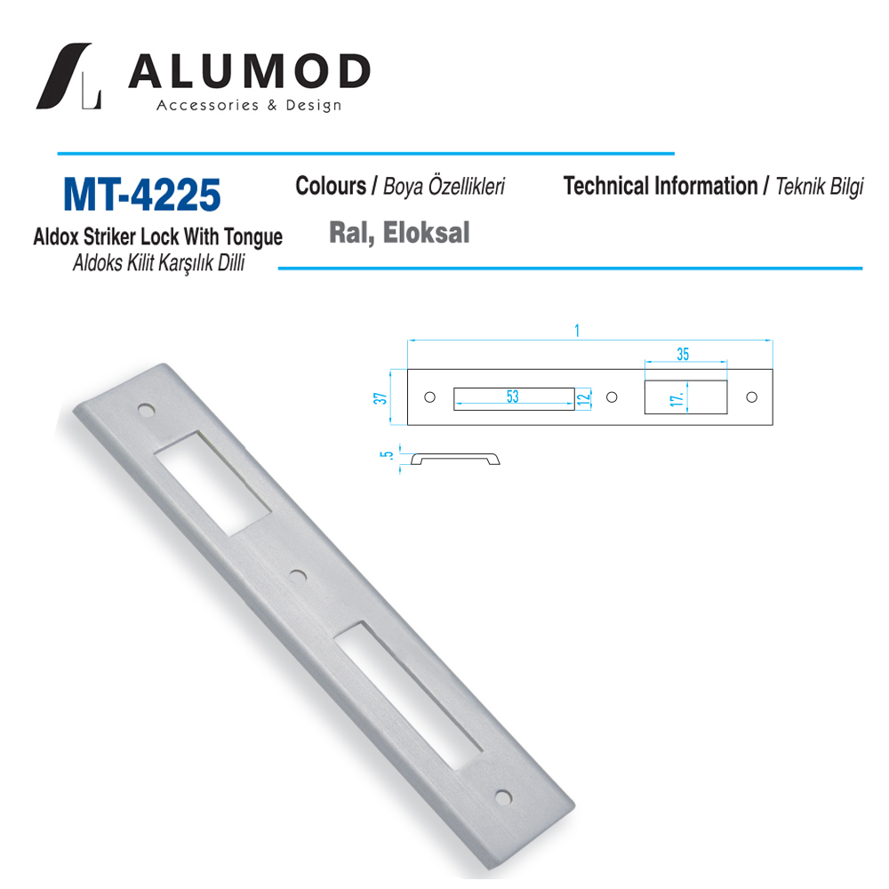 MT-4225 Aldoks Kilit Karşılığı Dilli