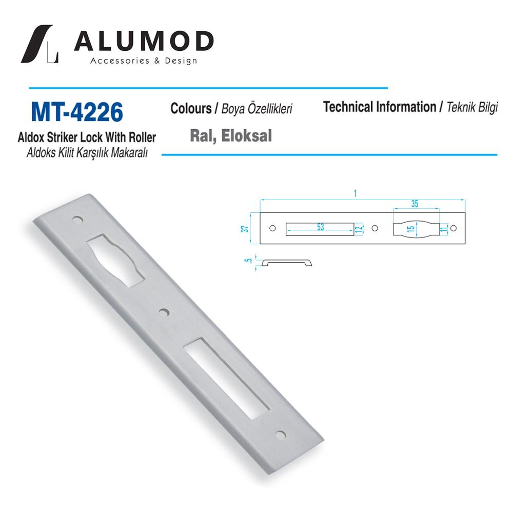 MT-4226 Aldoks Kilit Karşılığı Makaralı