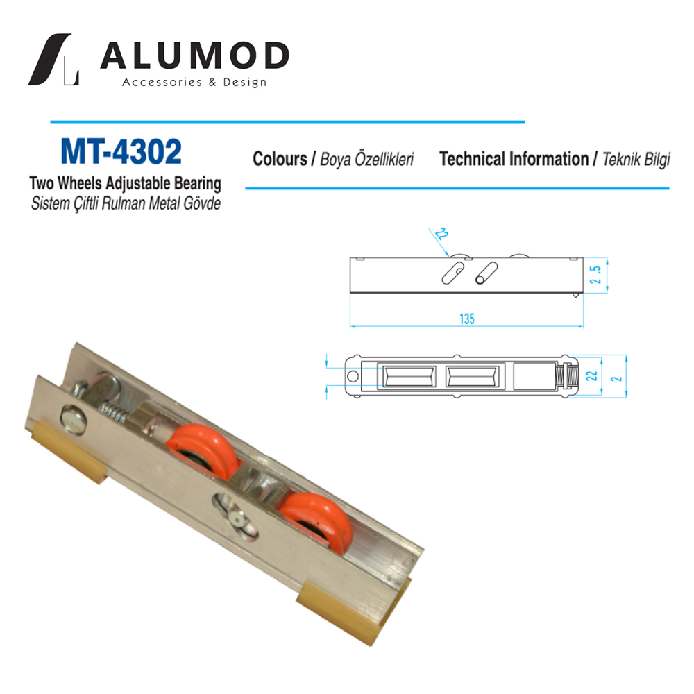 MT-4302 Sistem Sürme Teker Çift Rulman