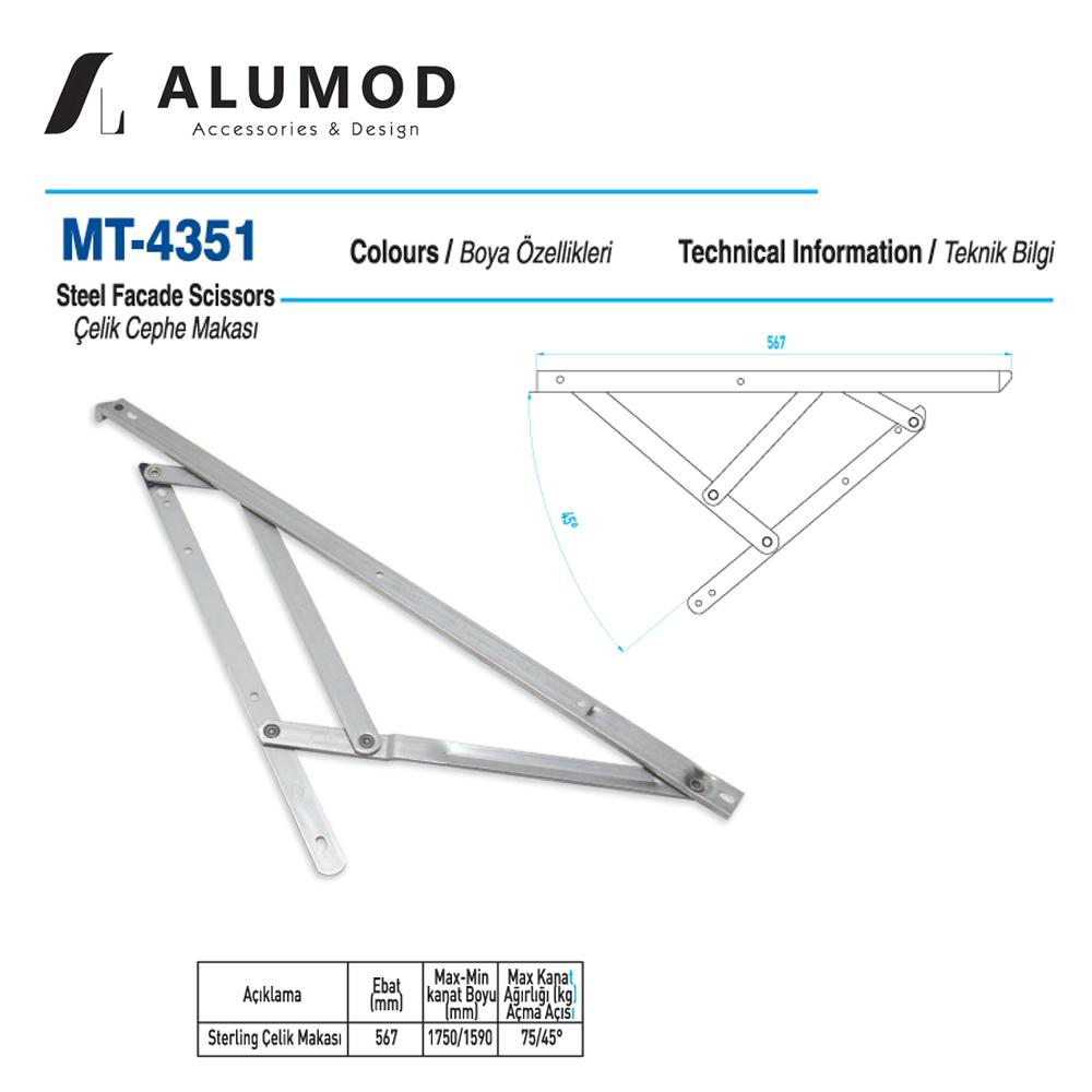 MT-4351 Sterling Çelik Cephe Makası