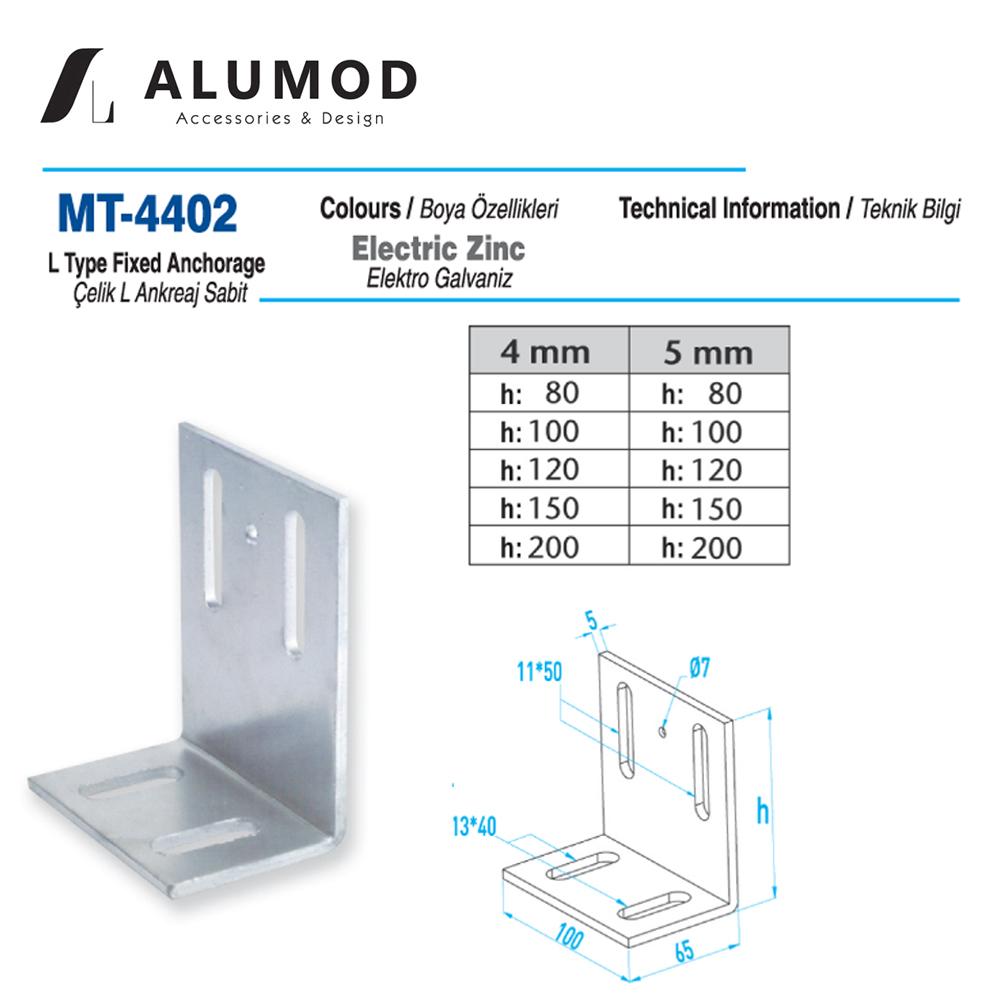 MT-4402 Çelik L Ankreaj Sabit