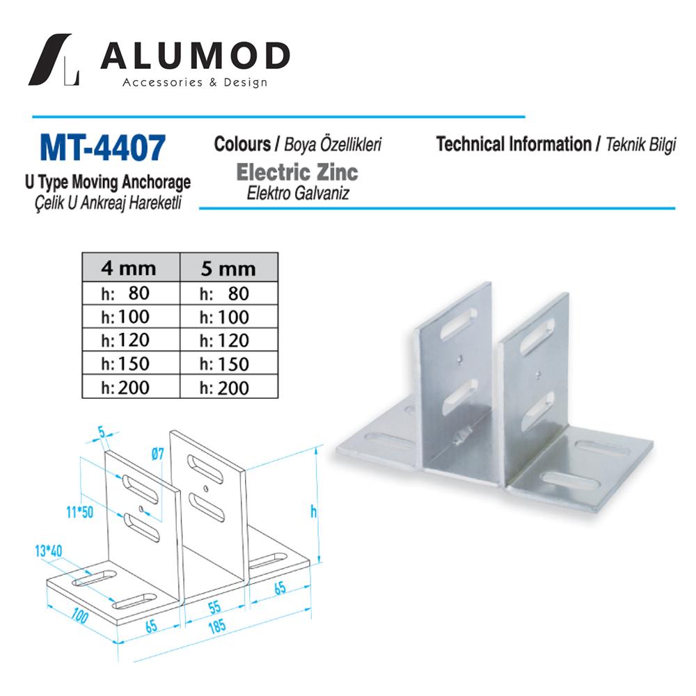 MT-4407 Çelik U Angreaj Hareketli