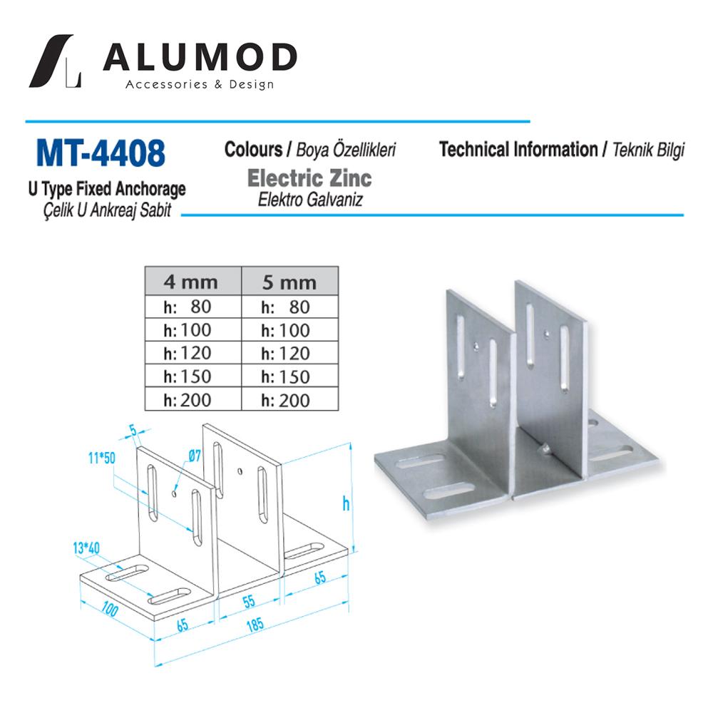 MT-4408 Çelik U Ankreaj Sabit