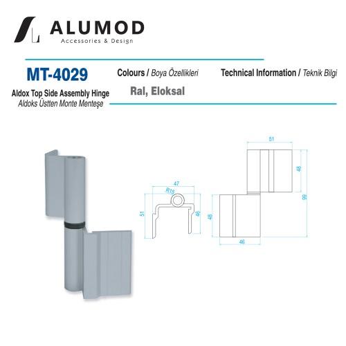 MT-4029 Aldoks Üsten Monteli Menteşe
