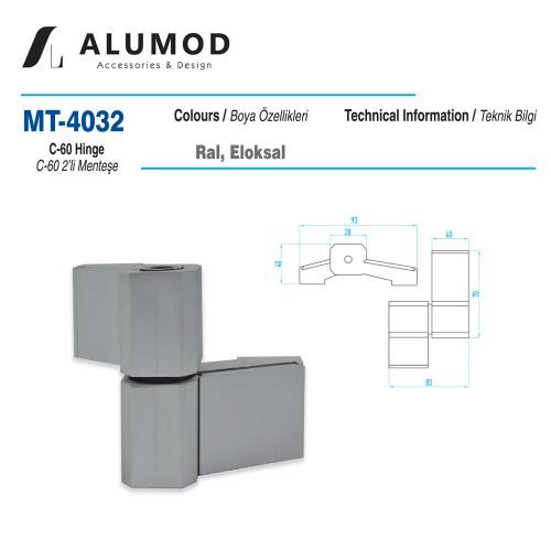 MT-4032 C-60 2'li Menteşe