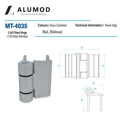 MT-4035 C60 Kertme Menteşe,