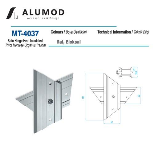 MT-4037 Pivot Menteşe Üçgen Isı Yalıtım
