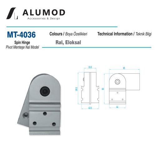MT-4036 Pivot Menteşe Nal Model