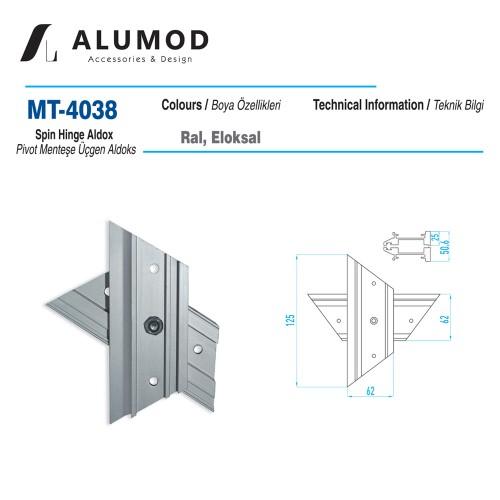 MT-4038 Pivot Menteşe Üçgen Aldoks