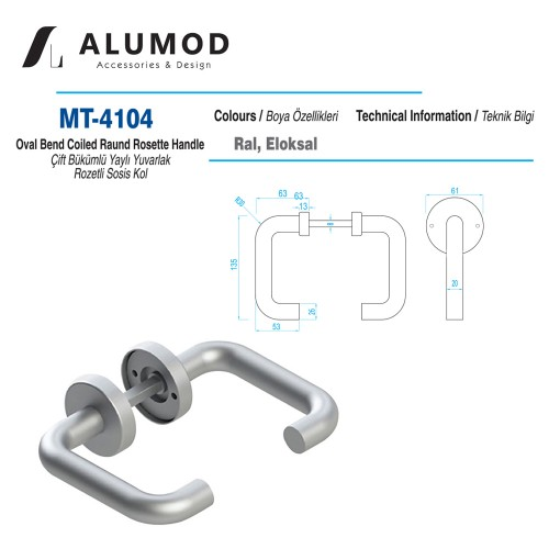 MT-4104 Çift Bükümlü Yaylı Yuvarlak Sosis Kol