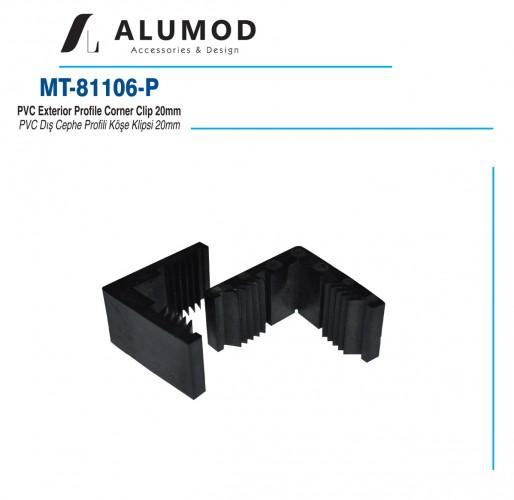 MT-81108 Pvc Dış Cephe Profili Köşe Klipsi 20mm
