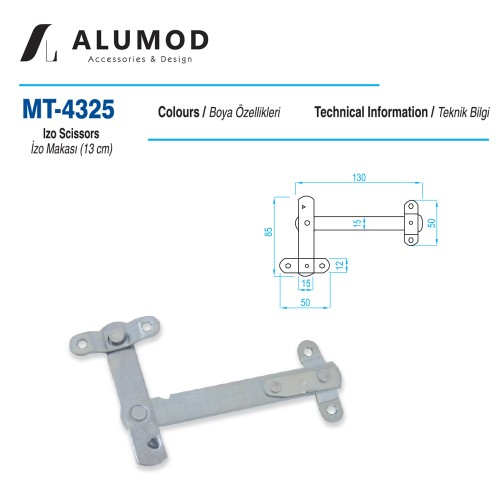 MT-4325 İzo Makas 13 cm
