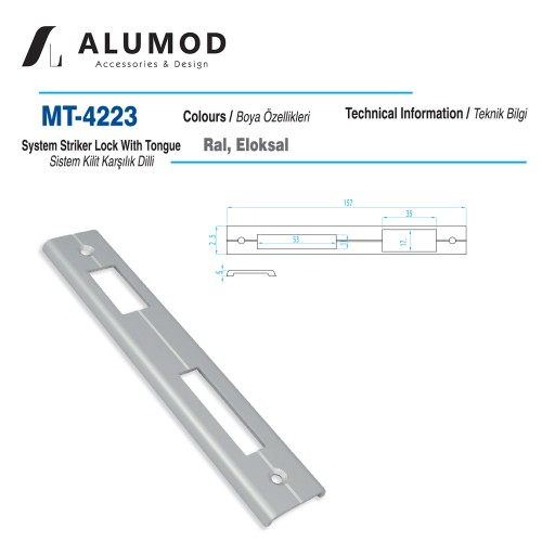 MT-4223 Sistem Kilit Karşılığı Dilli