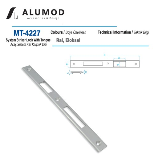 MT-4227 Asaş sistem Kilit Karşılığı Dilli