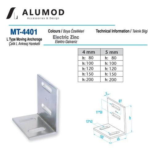 MT-4401 Çelik  L Tipi Ankreaj