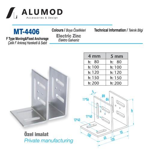 MT-4406 Çelik F Ankreaj Hareketli Sabit