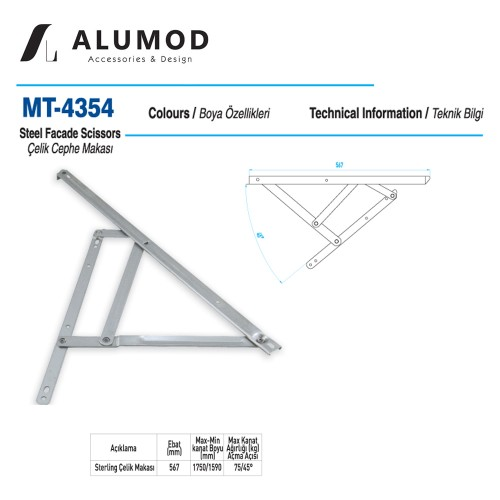 MT-4354 Sterling Çelik Cephe Makası